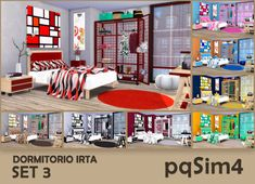 Sims 4 CC's - The Best: Irta Bedroom Set №3 by pqSim4