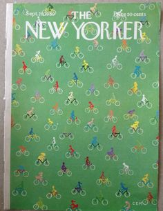 COVER ONLY  The New Yorker magazine ~MARTIN ~ September 20 1969 ~ Bicycles Bikes