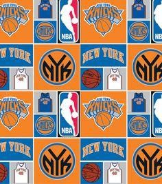 Licensed NBA Cotton Fabric-Ny Knicks, , hi-res