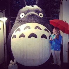 Teddy bear museum in Tochigi prefecture, with life size totoro and cat bus