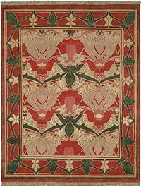 Arts and Crafts style rug, reproduction in the Donnemara pattern by Voysey