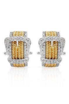 0.4 CTW I1 Color G-H Diamond 14K Gold Earrings - Enviius