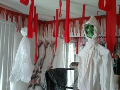 guest room for two grandson ideas Halloween Carnival, Holidays Halloween, Halloween Decorations, Halloween Party, Witch House, House Rooms, Haloween Ideas, Butcher Shop, View Source