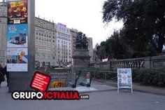 Plaça de Catalunya, Barcelona. Grup Actialia ofrece sus servicios en Barcelona: Diseño web, Diseño gráfico, Imprenta y Rotulación. www.grupoactialia.com