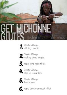 The Walking Dead Workout | Get Michonne Glutes | @stormbornfitness #workout #TWD