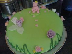 The Birthday cake I made for my lovely Mummy's Birthday in 2011.  As inspired by her favorite sweeties-Percy Pigs.