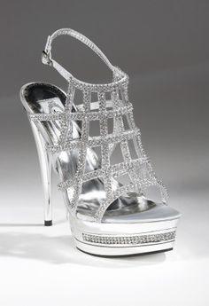 "High heel birdcage platform sandal features: ��4.25"" High heel��Adjustable ankle strap��Padded sock lining��-Non skid sole"