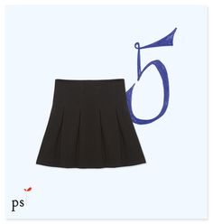 "North Shore Skater Skirt #AnthropologieEu ""This textured, pitch-black skirt makes a great alternative to an LBD when paired with a dressed-up tee and heels."""