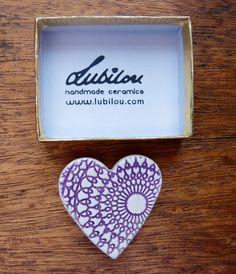Heart brooch ceramic £4.50