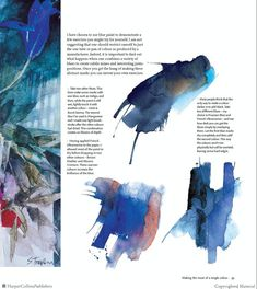 Making the most of a single color. Watercolor Tutorials, Watercolor Techniques, Painting Techniques, Art Tutorials, Watercolour Painting, Watercolors, Shirley Trevena, Magazine Design Inspiration, Alcohol Inks