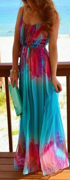 vibrant maxi dress ❤︎
