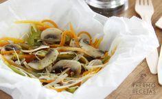 El papillote de verduras es una receta sana y saludable que se puede acompañar con esta selección de 5 salsas.