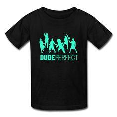 LLangla Kid's Dude Perfect Trick Shots T Shirt S