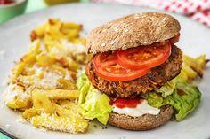 Saftiger Rindfleisch-Karotten-Burger,