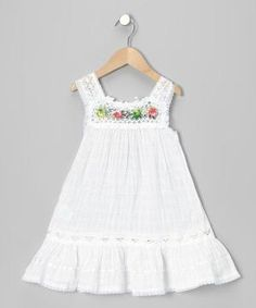 Another great find on Little Cotton Dress White Nathaly Ibiza Dress - Infant, Toddler & Girls by Little Cotton Dress Toddler Dress, Baby Dress, Infant Toddler, Toddler Girls, Infant Girls, Ruffle Dress, Girls Fashion Clothes, Kids Fashion, Fashion Outfits