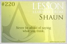 Assassin's Creed Life Lessons — (submitted by littlemercury)
