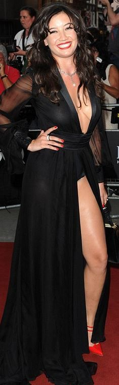 black mesh gown