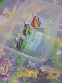 Pour Painted Pots and Box Marbling | Young Adult Activities
