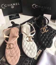 Authentic Chanel sandals for Sale in Clearwater, FL - OfferUp Pretty Shoes, Cute Shoes, Me Too Shoes, Cute Sandals, Sandals For Sale, Fashion Slippers, Fashion Shoes, Chanel Slides, Chanel Sandals