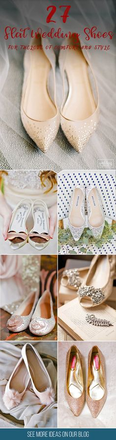 27 Flat Wedding Shoes For The Love Of Comfort And Style ❤ You may last through your wedding ceremony in 3-inch heels, but at some point you will find your feet tired. That's why we presented flat wedding shoes! See more http://www.weddingforward.com/flat-wedding-shoes/ # wedding #shoes