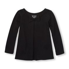 Cozi - Toddler Girls Long Sleeve Solid Bow Top | The Children's Place