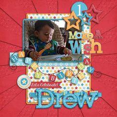 GingerScraps :: Bundled Goodies :: Birthday Wishes Boy Digital Scrapbooking Collection