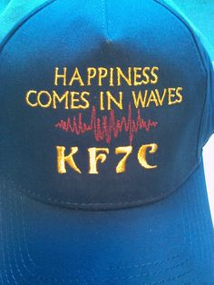 NEW - HAM RADIO Hat - EMBROIDERED with Waves Design & Call Letters 15.99 - click on pix to order