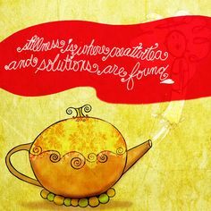 Stillness is where creativiTEA and solutions are found. What my #Tea says to me July 16, sometimes it is good to be still, especially on very hot days. LOL Drink YOUR life in and enjoy YOUR stillness. Cheers! (What my #Tea says to me is a daily, illustrated series created by Jennifer R. Cook)