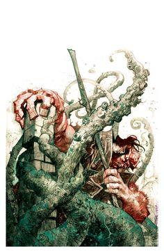 Hellboy vs Tentacled Creature