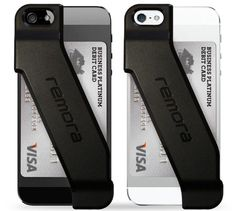 Take thin, sleek, and functional to a whole new level with an innovative wallet case for iPhone 5.