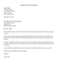 Letter Format Business Example Sample Formal Template  Home