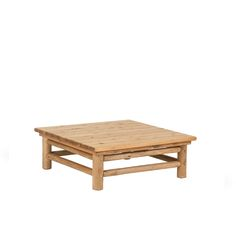 Rustic Coffee Table #3252 in Pecan Finish on Peeled Bark by La Lune Collection