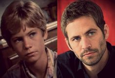 Paul as a child and as a a man. The jawline is firmer, as an adult.