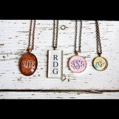 What precious Monogrammed Glass Pendant Necklaces!you get to pick your favorite charm, favorite metal and VOILA you have the most beautiful and fun Monogrammed Glass Pendant Necklace! Monogram Jewelry, Engraved Jewelry, Engraved Necklace, Personalized Necklace, Glass Necklace, Jewelry Necklaces, Pendant Necklace, Jewlery, Sparkly Jewelry