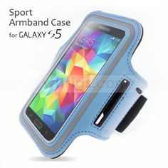 Samsung Galaxy S5 case - Sport Armband Case for Samsung Galaxy S5 Sky Blue