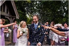 Spetchley Park Wedding Photographer #confetti