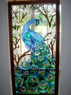 Peacock door