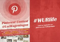 What are student essentials for you? Make a Pinterest-board with the title: #WURlife and pin the things that are essential in your student life. The best board will be awarded a student-essentials packet!