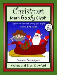 For 1st grade through 5th grade -Christmas Math Goofy Glyph - a fun way to review math skills.  $