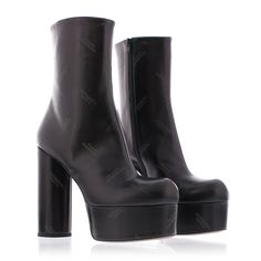 Vetements micro logo platform bootie zwart - shoebaloo.nl/