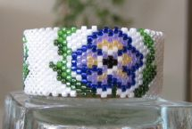 Pansies Tea Light Cover by Diane Masters AKA Phoenix Wolf Creations