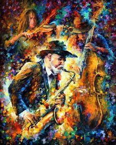 """Endless Tune"" Leonid Afremov. This guy does some awesome stuff with a palette knife and oil paint. Check him out!"