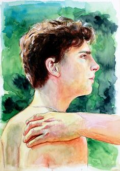 I remember everything — shyster-s: Another Elio painting. Name Paintings, I Call You, Name Art, Your Name, Pretty Art, Art Inspo, Art Sketches, Watercolor, Movies