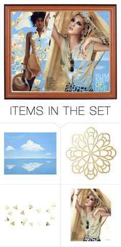 """""""Beach bronze"""" by beanpod ❤ liked on Polyvore featuring art"""