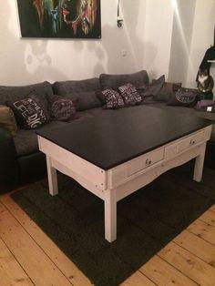 Palettentisch Palettenmöbel Wohnzimmertisch Europalette Marl Upcycling  Tisch Shabby Chic, Eigenbau, Massiv, Paletten