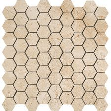 """Timeless Collection 1-3/4"""" x 1-1/2"""" Porcelain Stoneware Rectified Mosaic in Marfil Cream"""