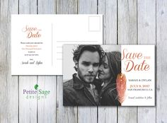 Save The Date Printable Card, Custom Photo Wedding Template, Wedding Engagement Announcement, Personalized Save The Date Notice Postcard