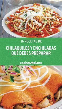 Enchiladas Mexicanas, Empanada, Tacos, Cooking Recipes, Bar, Ethnic Recipes, Food, One Pot Dinners, Chicken