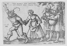The Year's End from The Peasants' Feast or the Twelve Months (1546); Hans Sebald Beham (German, 1500–1550); Engraving; second state of two (Pauli); Metropolitan Museum of Art, New York