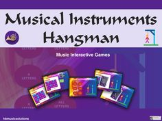 This musical interactive version of hangman contains over 50 slides of this popular game. It has instruments with letters and covers instrument famili. Hangman Game, Music Theory, Music Lessons, Teaching Resources, Musicals, Instruments, Letters, Games, Teaching Music